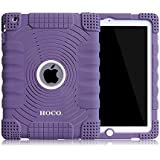 Honeycase Extreme-Duty Military Transformer Hybrid Shockproof & Drop Rresistance Anti-slip Soft Silicone Case Cover for iPad 2 / for iPad 3 / for iPad 4 (Purple)