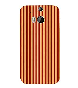 Stripe Pattern 3D Hard Polycarbonate Designer Back Case Cover for HTC One M8 :: HTC M8 :: HTC One M 8