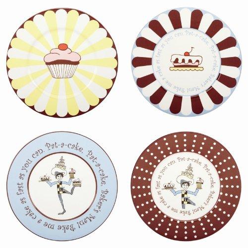 Gorham Merry Go Round Pat-A-Cake Dessert Plates - Set(s) Of 4
