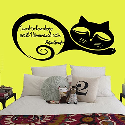 decorrooms-adhesivos-de-pared-quote-i-used-to-love-perros-hasta-descubri-gatos-mascotas-para-el-hoga