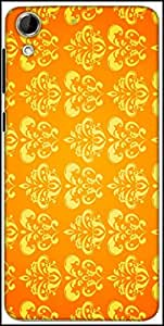 Snoogg Motif Yellow Shaded 2417 Designer Protective Back Case Cover For HTC Desire 728