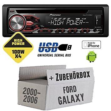 Ford galaxy 1-pioneer dEH - 4800FD highPower - 4 x 100 w/mP3/cD uSB