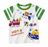 ミキハウス ホットビスケッツ(MIKIHOUSE HOT BISCUITS) HOT-B☆トランスポート☆半袖Tシャツ 72-5205-784 80cm 白