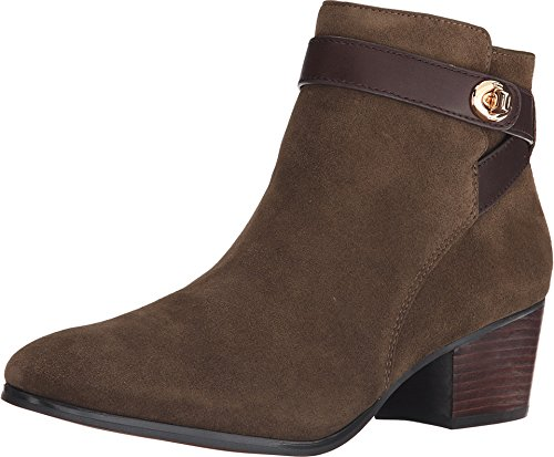 Coach Patricia Fatigue/Chestnut Suede Mat Calf Bootie Women Size 8.5 M