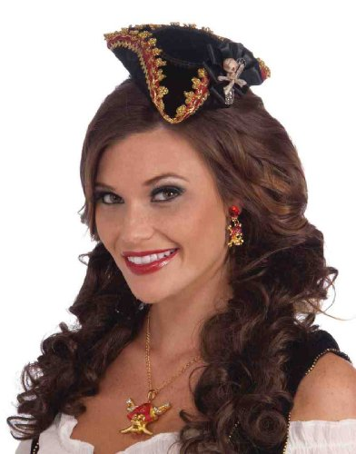 Forum Sexy Pirate Wench Halloween Costume Mini Jolly Roger Hat - 1