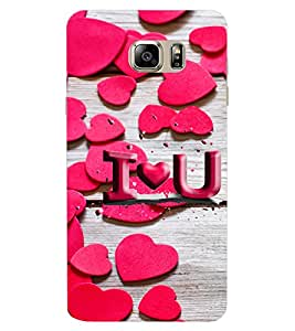 ColourCraft Love Pattern Design Back Case Cover for SAMSUNG GALAXY NOTE 6