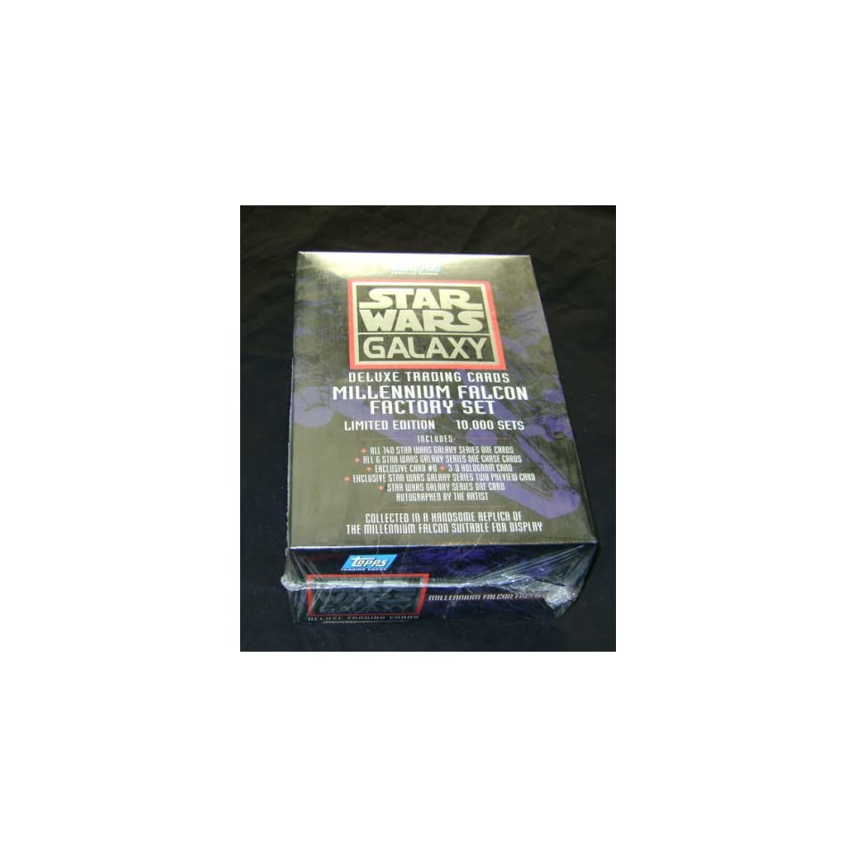 Star Wars Galaxy Deluxe Trading Card Millennium Falcon Factory Set Sealed