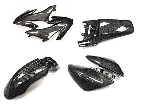 TMS® Carbon Fiber Full Boby Plastic Fairing Kit for Honda CRF XR 50 XR50 CRF50 (Honda Xr 50 Parts compare prices)