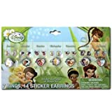 21pk Disney Tinkerbell Fairies Days of the Week Earrings & Rings Set For Girls