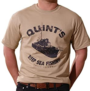 Quint's Deep Sea Fishing T-Shirt (Tan) - Inspired by Jaws