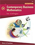 Contemporary Business Mathematics for Colleges, Brief Edition with CDROM