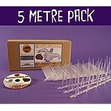 Defender Narrow Plastic Bird and Pigeon Spikes - 5 Metre Pack