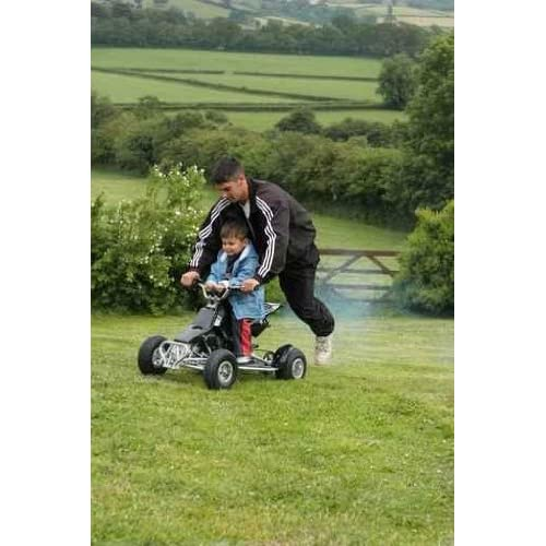 Fun on the Mini Moto Quad Bike 72H x 48W Peel and Stick Wall