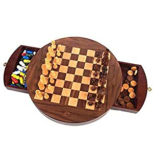 Walnut Round 3 in 1  Game Set