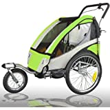 Jogger Remorque à Vélo 2 en 1, pour enfants + Amortisseur 504S-02 lemon-Noir
