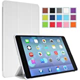 MoKo Apple iPad Air Case - Ultra Slim Lightweight Smart-shell Stand Case for Apple iPad 5 / iPad Air(5th Gen) Tablet, WHITE (With Smart Cover Auto Wake / Sleep)