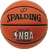 Best Basketballs - SPALDING NBA Silver Outdoor Basketball (7) - Brown Review