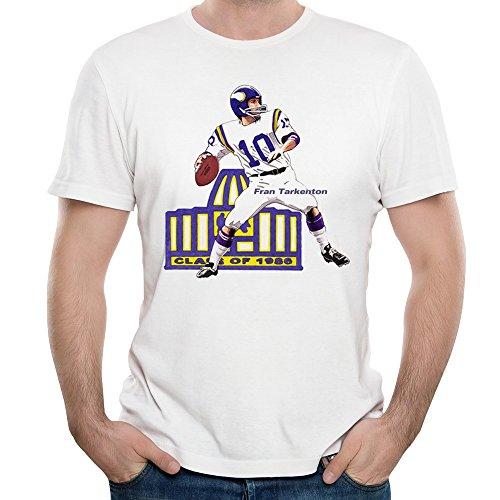 Women's Minnesota Vikings 10 Fran Tarkenton Purple Drift Fashion Jersey