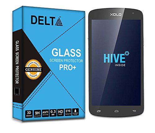 XOLO Omega 5.5 Sreen Protector,Delta Premium Pro+ Tempered Glass,Shatter Proof Screen Protector for XOLO Omega 5.5 with Cleaning Kit [2.5D round Edges,0.3mm,9H hardness]  available at amazon for Rs.190