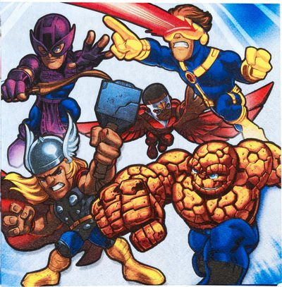 Marvel Super Hero Squad Large Napkins (16ct)