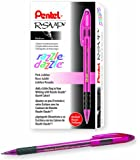 Pentel R.S.V.P. Razzle-Dazzle Ballpoint Pen, Medium Line, Pink Barrel, Black Ink, Box of 12 (BK91RDP-A)