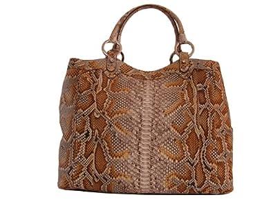 Braschi Women's Handbag Genuine Python Leather Deserto - ON SALE!