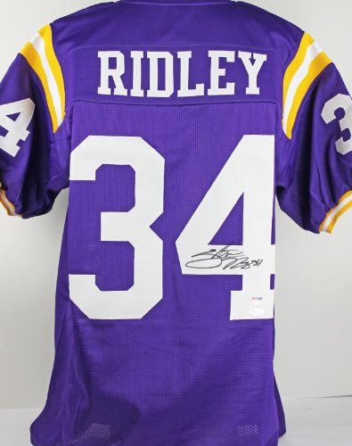 LSU STEVAN RIDLEY AUTHENTIC SIGNED JERSEY PURPLE AUTOGRAPHED CERTIFICATE OF AUTHENTICITY PSA/DNA #JERSEY91532 at Amazon.com
