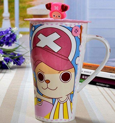 Carino bambino Cups Anime ONE PIECE Tazza Da Caffè Tazza in ceramica a forma di creativi per il? Tazza in ceramica-tazza nlichkeit casa tenuta caffè tazza alto tempo regali compleanno in ceramica-tazza 600 ml, Ceramica, Color02