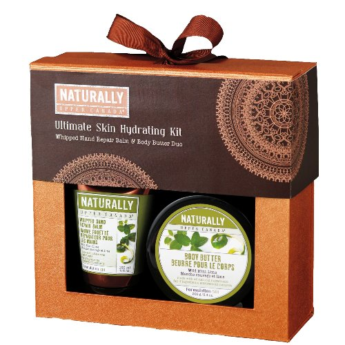 Upper Canada Soap & Candle Naturally Ultimate Skin Hydrating Set, Wild Mint Lime