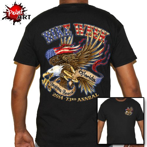 Biker Life USA Men's Bike Week 2014 American Eagle T-Shirt