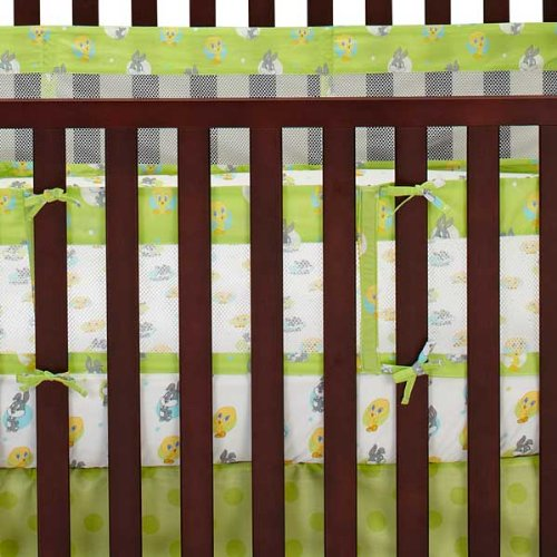 Looney Tunes Natures Fantasy Mesh Crib Liner