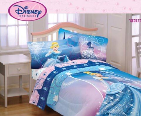 Cheap Disney 39 S Princess Cinderella Girls Twin Comforter Sheet Set 4 Piece Bedding On Sale