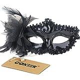 Coxeer® Venetian Style Silver Eye Costume Masquerade Mardi Mask