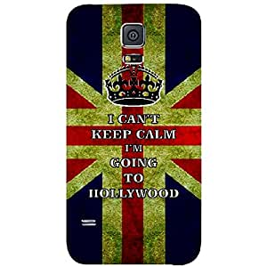 Skin4gadgets I CAN'T KEEP CALM I'm GOING TO HOLLYWOOD - Colour - UK Flag Phone Skin for SAMSUNG GALAXY S5