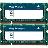 Corsair Apple MAC Memory 2GB (2 X 1GB) PC2-5300 667MHz 200-pin DDR2 SODIMM Laptop Memory Kit - VSA2GSDSKIT667D2