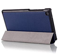 SPL Premium PU Leather Book Stand Cover for Lenovo Tab 2 A7-30 Tablet -Dark Blue