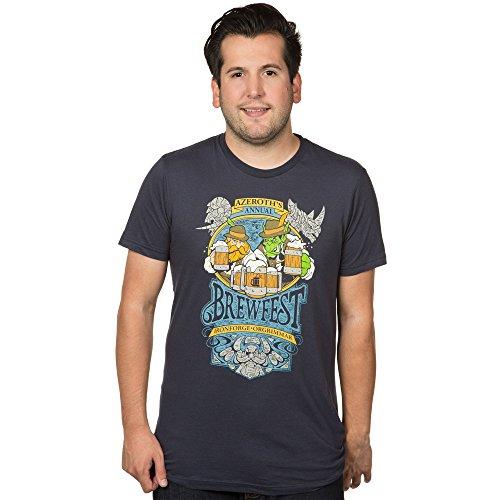World of Warcraft Brewfest Men's Short Sleeve Blue Tee Shirt