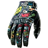O'Neal Jump Gloves with Crank Graphic (Black/Multicolor, Size 10)