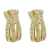 Apriati Italian Fashion Jewellery Gold-Plated Hoop Earring For Women (Yellow)