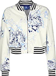 adidas Originals Women's Cotton Quilted Jacket (S19918_White_40)