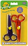 Crayola beginnings 2x safety scissors straight & zig zag cut paper & card only boy girl school crafts birthday present gift