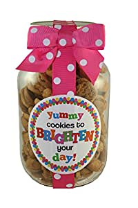 Nams Bits Chocolate Chip Cookies Glass 10oz Jar - Yummy Cookies To Brighten Your Day...