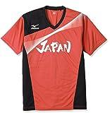 (ミズノ)MIZUNO 卓球ウエア 代表応援Tシャツ [ユニセックス] 82JA6600 62 レッド S