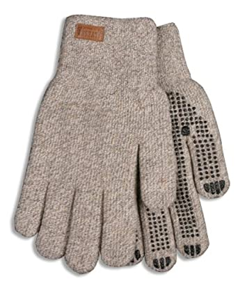 Kinco 5298 Alyeska Ragg Wool Unlined Full Finger Glove with PVC Dots, Work, X-Large, Tan (Pack of 6 Pairs)