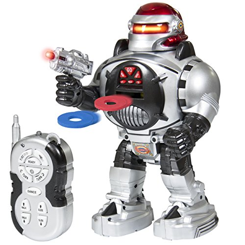 Best Choice Products Remote Walking Control RC Robot Talking Dancing W/ Shooting Fire Disc Action Toys Lights & Sound (Walking Shooting Robot compare prices)