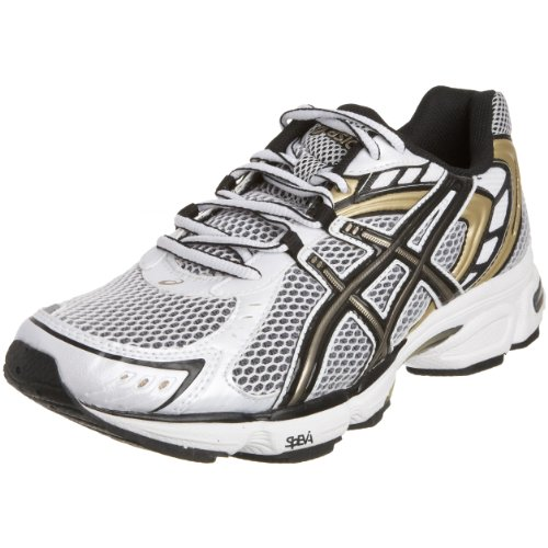 Asics Men's Gel Asperatus Running Shoe White/Black/Gold T02QQ0189 9.5 UK