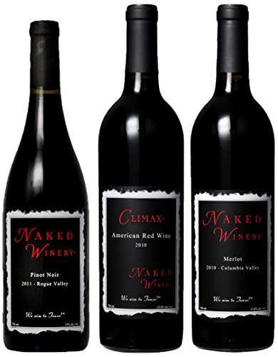 Naked Winery For Red Heads Only Mixed Pack,(Library Edition) 3 X 750 Ml