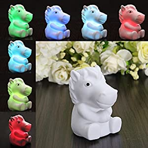 Cute Horse Shape 7 Color Change Decoration LED Lamp Night Light Nightlight Kids by Nollmit Co,LTD