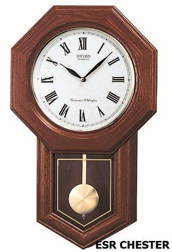 Seiko Pendulum Clock (54 cm x 33 cm x 9.5 cm, Brown, QXH102BN)