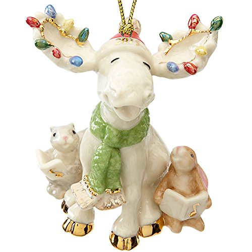 Lenox Merry Moose Choir Ornament 2015